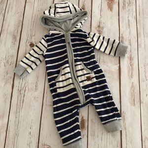 Carter's 3 Month Blue & White Striped Outfit